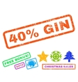 40 Percent Gin Rubber Stamp vector image vector image