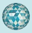 abstract 3d triangles sphere vector image vector image