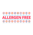 allergen free products minimal infographic banner vector image vector image