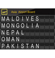 asia country airport board information vector image vector image