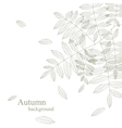 Autumnal bright leaf background vector image vector image