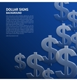 background with dollar signs vector image vector image
