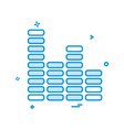 bar graph icon design vector image vector image