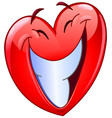 big smile heart vector image vector image