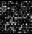 black background with seamless white circles vector image