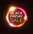 black friday sale concept circle neon logo vector image vector image