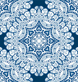 Blue Mandala Patterned Background vector image