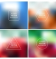 Blurred backgrounds vector image