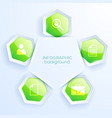 business infographic hexagon paper concept vector image