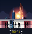 Business meeting with Space Shuttle vector image vector image