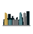 city buildings icon vector image vector image