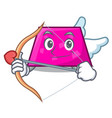 cupid trapezoid character cartoon style vector image