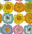 Elegance Seamless pattern orange blue yellow pink vector image
