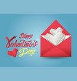 envelope with letter and heart vector image
