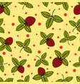 flower seamless pattern with wild strawberry vector image vector image