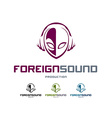 Foreign Sound Logo vector image vector image