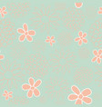 green and peach floral seamless pattern design vector image vector image