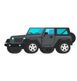 grey car suv icon flat travel tourist vector image