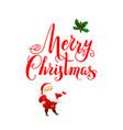 handwritten christmas letteing vector image vector image