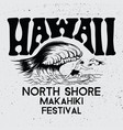 hawaii north shore makahiki festival vector image vector image