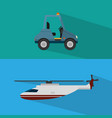 helicopter transport service vector image vector image
