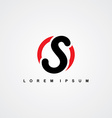 initial letter linked uppercase logo vector image vector image