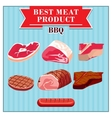 isolated meats product vector image vector image