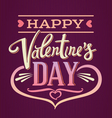 Lettering composition Valentines Day vector image vector image