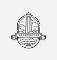 light house logo design template vector image