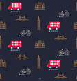 london city theme child dark blue seamless vector image vector image
