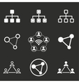 Network icon set vector image vector image