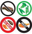 no meat sign vector image vector image