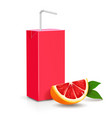 pack of juice grapefruit carton package vector image vector image