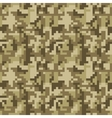 pixel camo seamless pattern brown desert vector image