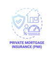 private mortgage insurance concept icon vector image vector image