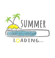 progress bar with inscription - summer loading vector image