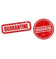 quarantine text set isolated white background vector image vector image