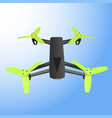 realistic remote air drone quad-copter with camera vector image vector image