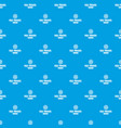 sea travel pattern seamless blue vector image vector image
