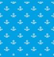 sea travel pattern seamless blue vector image