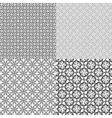 Set abstract vintage geometric wallpaper pattern vector image vector image