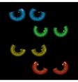 set colorful eye balls vector image vector image
