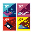 set of 90s cartoons elements vector image vector image