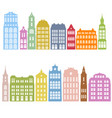 silhouettes houses vector image vector image
