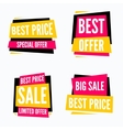 Special offer sale tag discount symbol set