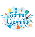Spring Cleaning Letter Decorating And Equipment vector image vector image