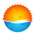 sun and water vector image vector image