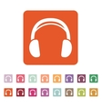 The headphone icon Sound symbol Flat vector image
