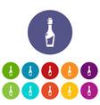 vinegar bottle icons set color vector image vector image