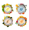 vitamin stamp banner vector image vector image